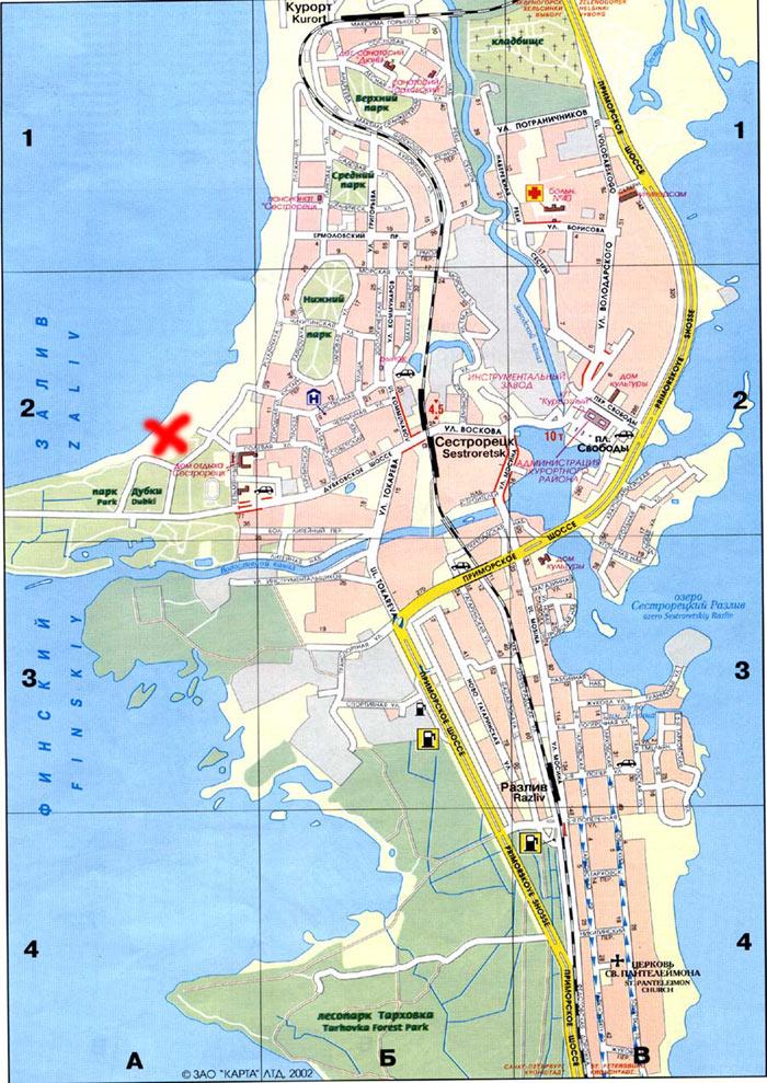 Карта Сестрорецка